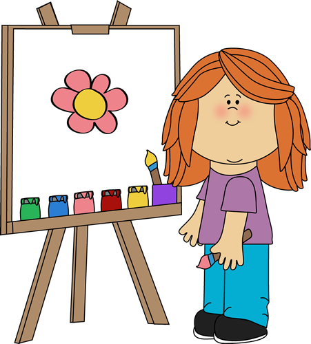 Artistic woman clipart image freeuse download Art Class Clip Art - Art Class Images image freeuse download