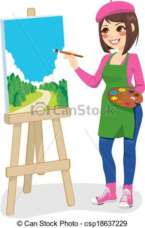 Artistic woman clipart - ClipartFest jpg free