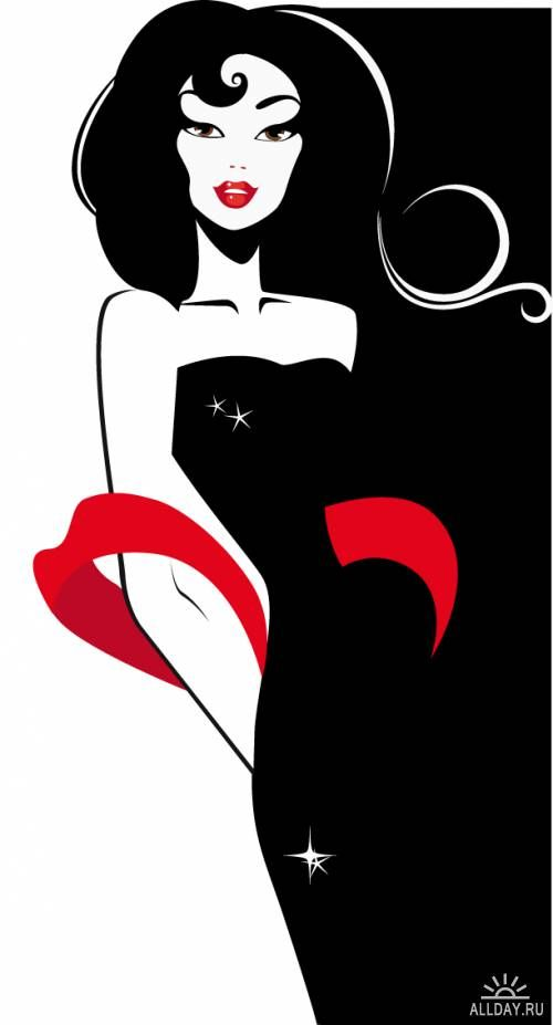 1920s Elegant Lady Clip Art | Lady Fashion Silhouette | 1920's ... graphic free download