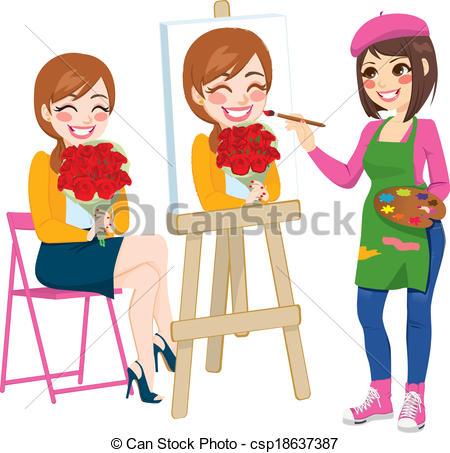 Artistic woman clipart - ClipartNinja image transparent download