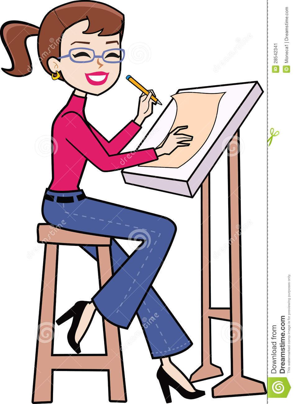 Artistic woman clipart jpg freeuse Artistic woman clipart - ClipartFox jpg freeuse