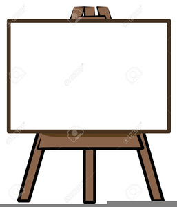 Artists easel clipart graphic black and white stock Free Art Easel Clipart | Free Images at Clker.com - vector clip art ... graphic black and white stock