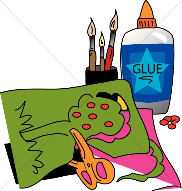 Clipart cafts image stock Arts and Crafts with Glue | Childrens Church Clipart image stock