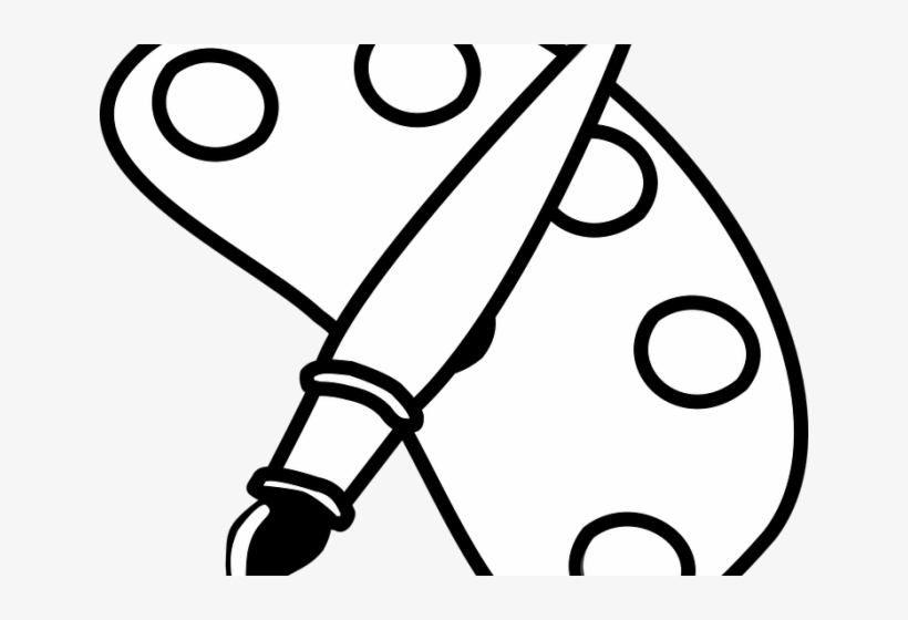 Arts and crafts clipart black and white picture freeuse library Paint Brush Clipart Black And White - Arts And Crafts Coloring Page ... picture freeuse library