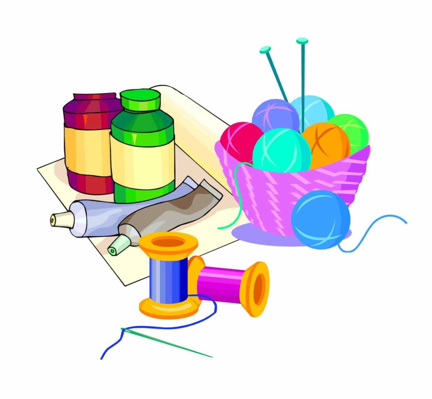 Free clipart for crafts png transparent library Art Supplies Clipart | Free download best Art Supplies Clipart on ... png transparent library