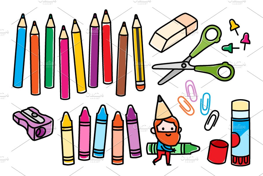Arts and crafts shop clipart banner Arts and crafts supplies banner