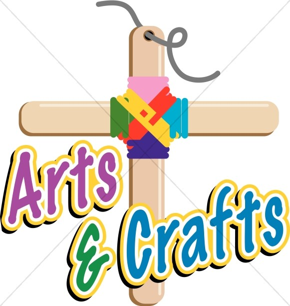 Arts crafts clipart with cross black and white Arts and Crafts Cross | Childrens Church Clipart black and white