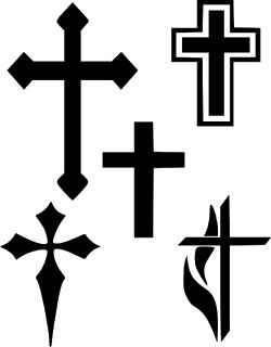 Arts crafts clipart with cross jpg black and white stock Cross Silhouette Clipart | Free download best Cross Silhouette ... jpg black and white stock