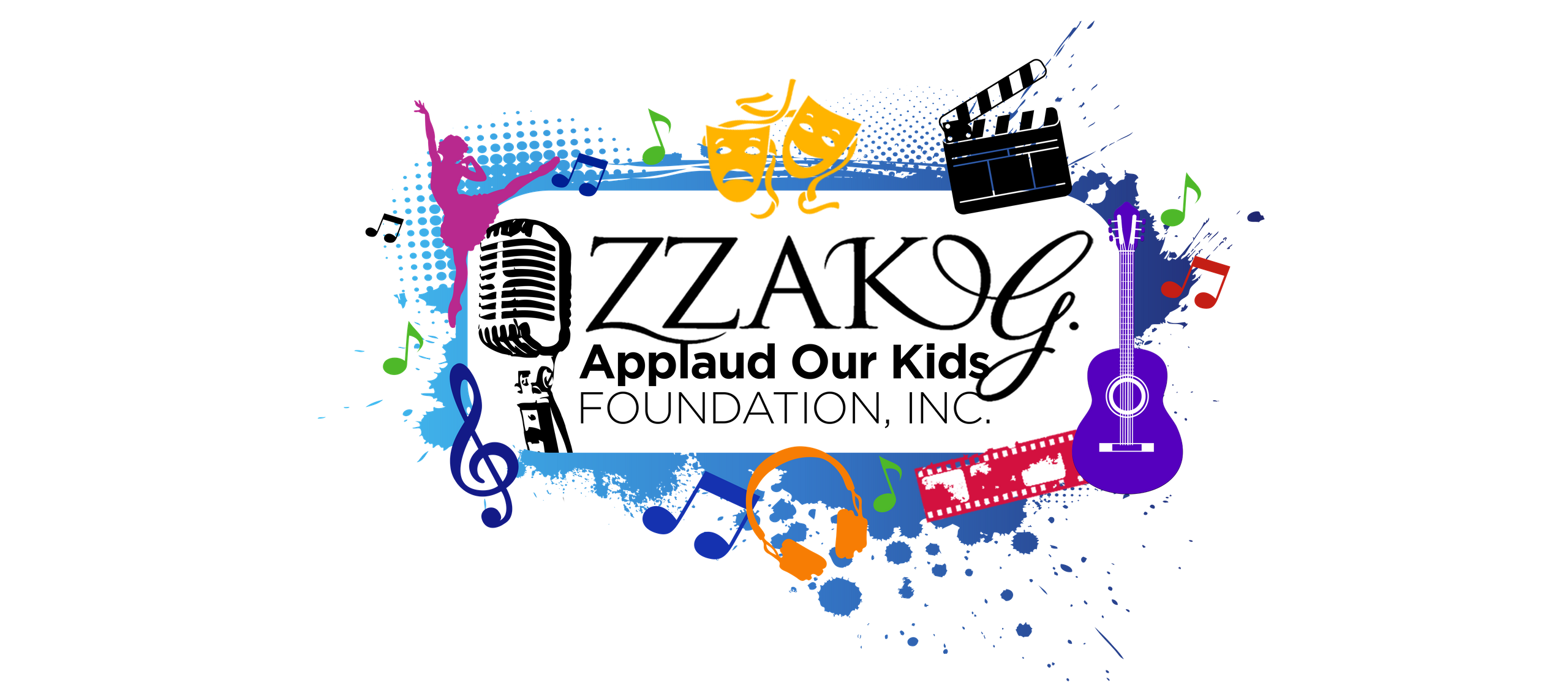 Arts scholarship concert clipart clipart black and white stock Scholarship Information | Zzak G. Applaud Our Kids Foundation Inc clipart black and white stock