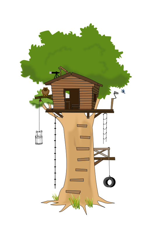 Cute house clipart free clip transparent free clipart House Cartoon | Free Tree House Clip Art | Cartoon ... clip transparent