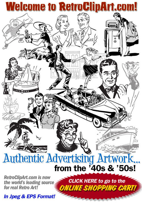 Artwork clip clip royalty free Retro Clip Art - retro clipart - authentic advertising ... clip royalty free