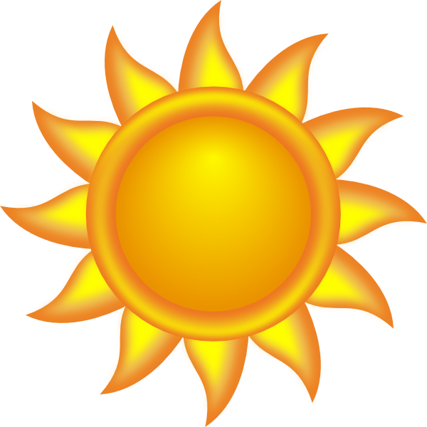Sun too hot clipart graphic library stock Sun Clipart | Decorative Sun clip art - vector clip art online ... graphic library stock