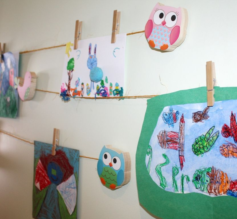 Artwork clips. Kid s display our