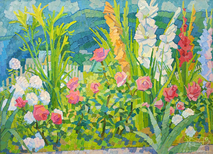 Artwork of flowers jpg freeuse library Paintings Gallery - Artists - Paintings by Contents - Painting ... jpg freeuse library