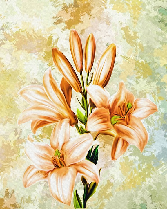 Artwork of flowers image freeuse download Free illustration: Flowers, Artwork, Art, Digital Art - Free Image ... image freeuse download