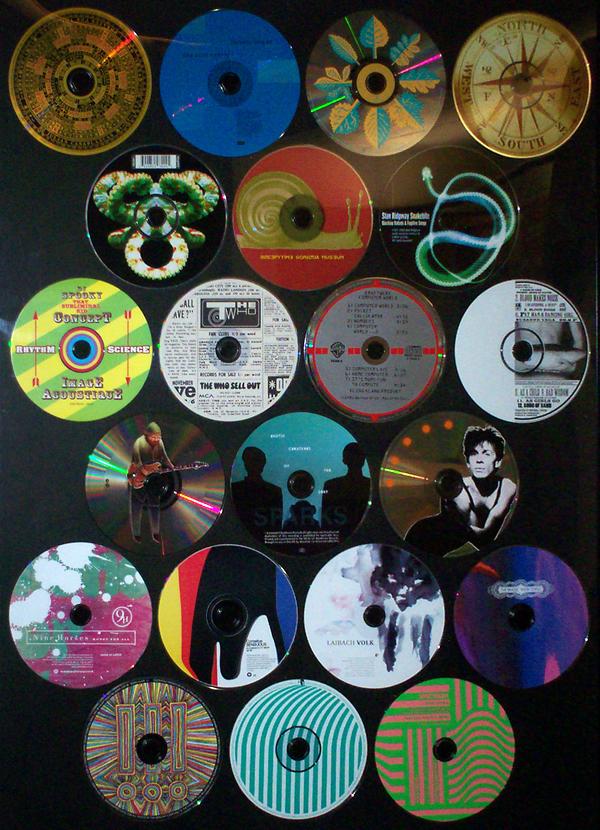 Artwork on cd clip art stock Recorded Sound Media exhibit by Dan Koster clip art stock