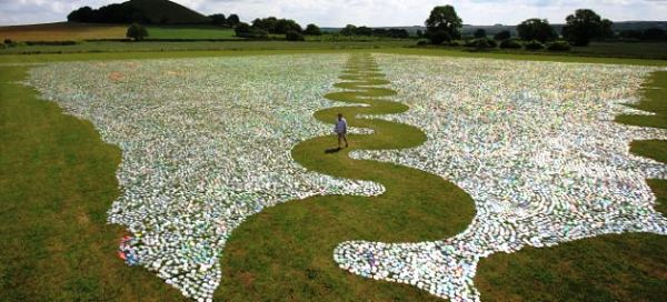 Artwork on cd clip transparent Artist Makes Inland Sea Using a Million Discarded CDs - Offbeat ... clip transparent