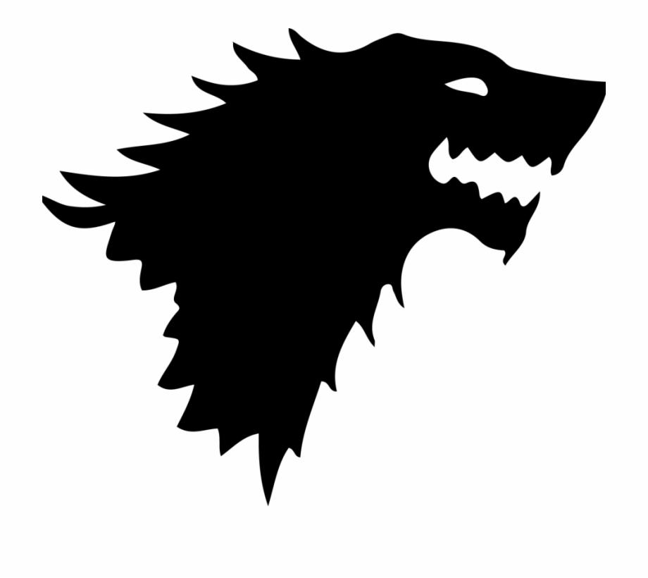 Arya stark clipart picture black and white Daenerys Targaryen Arya Stark House Stark Head Game - Clip Art Library picture black and white