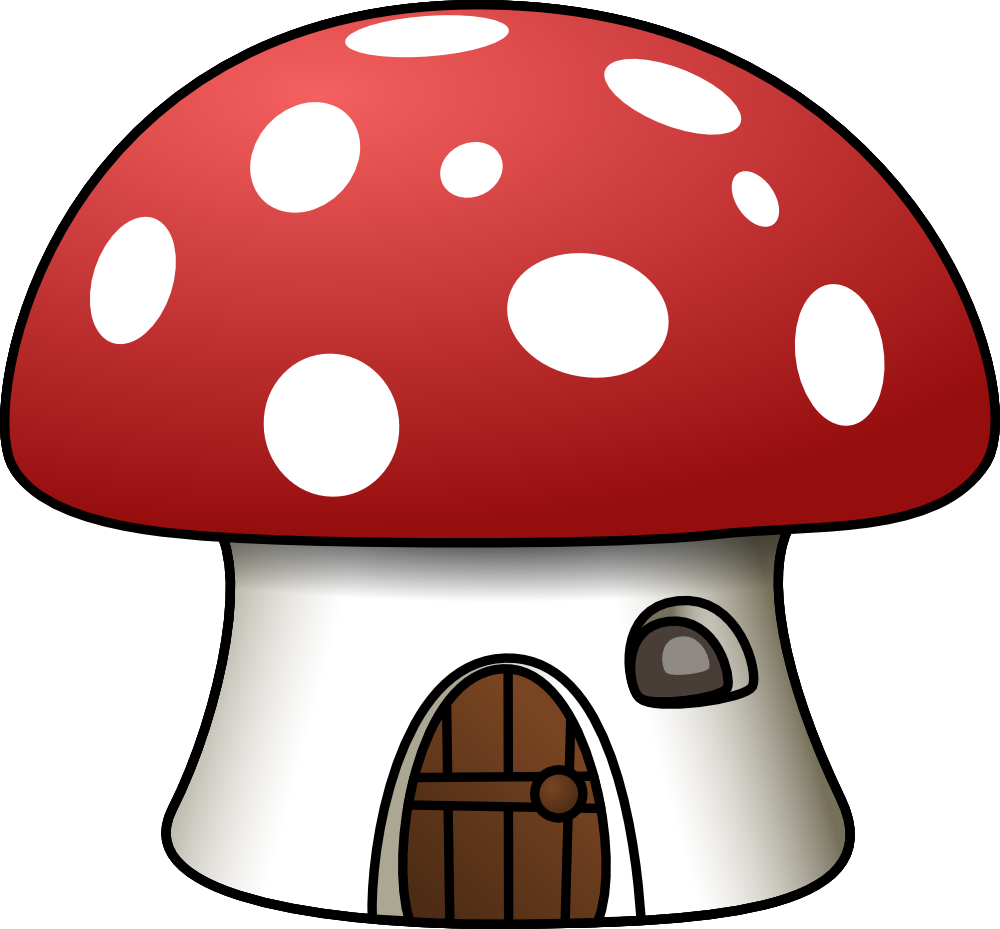 Clipart of house clipart OnlineLabels Clip Art - Mushroom House clipart