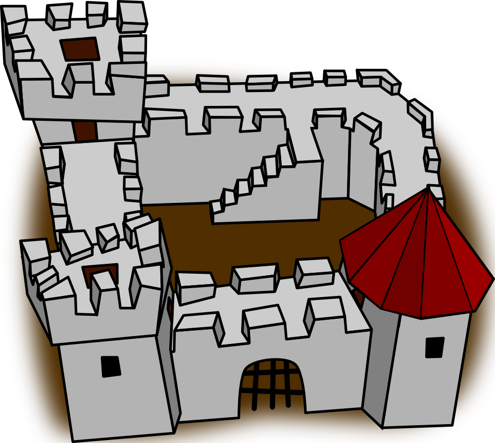As for me and my house clipart svg free library OnlineLabels Clip Art - Ugly Non-Perspective Cartoony Fort Fortress ... svg free library