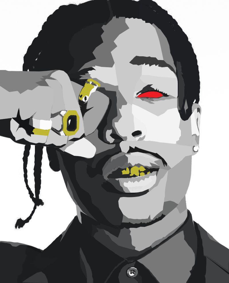Asap cartoon clipart clip art transparent download ASAP Rocky Illustration by Treyvon A. Gabriel Instagram: @SSJTREY ... clip art transparent download