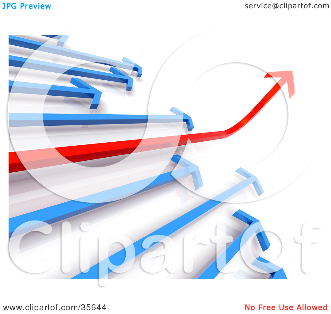 Illustration of a financial. Ascending arrow clipart
