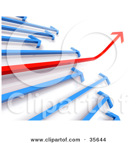Ascending arrow clipart. Illustration of a financial