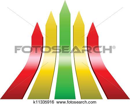 Ascending arrow clipart clip free Clip Art of 3D varicolored ascending arrows k11335916 - Search ... clip free