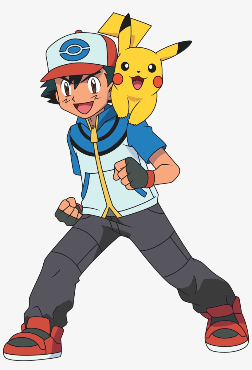 Ash and pikachu clipart picture free library Cute Pikachu Clipart - Ash Ketchum - Free Transparent PNG Download ... picture free library