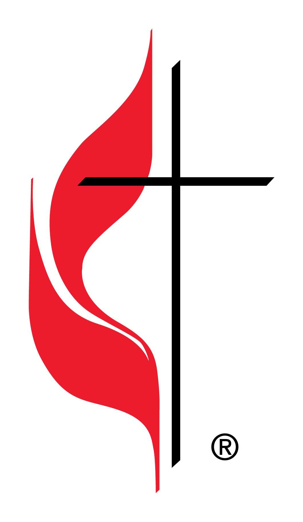 Official Cross and Flame Logo of The United Methodist Church ... picture library stock