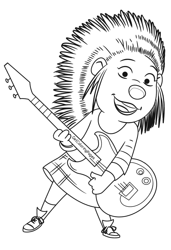 Ash sing clipart svg freeuse Sing Coloring Pages | Coloring pages | Sing movie, Coloring pages ... svg freeuse