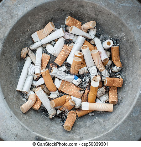 Ashed cigarette clipart clip library Ashtray full of cigarettes butt and ashes. Real life scene clip library