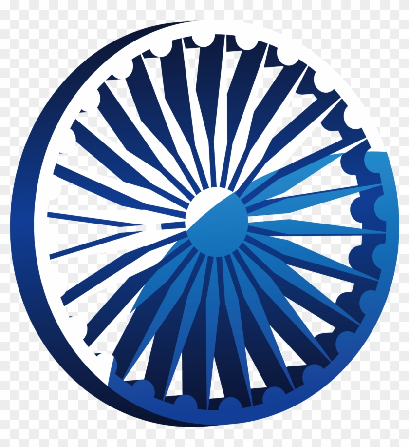Indian flag chakra clipart picture black and white stock Wheel Art Of India Flag Vector Car Clipart - Art Ashok Chakra Png ... picture black and white stock