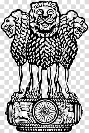 Ashok stambh clipart image royalty free library Sarnath Museum Lion Capital of Ashoka Pillars of Ashoka State Emblem ... image royalty free library