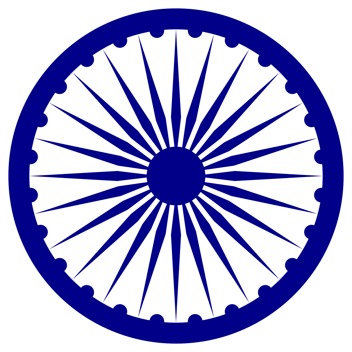 Ashoka logo clipart picture library library Ashoka Chakra - Wikipedia picture library library