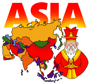 Asia clipart banner Free Asia Clip Art by Phillip Martin banner