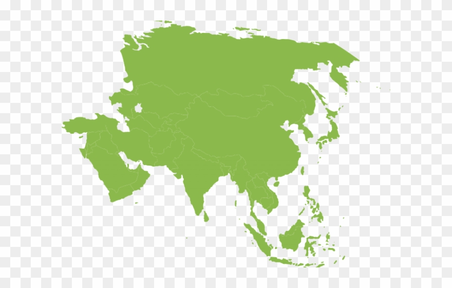Asia clipart image freeuse stock Continent Clipart Transparent - Asia Map - Png Download (#3640328 ... image freeuse stock