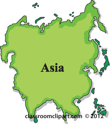 Asia clipart black and white library Asia Map Clipart & Free Clip Art Images #33268 - Clipartimage.com black and white library