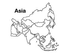 Asia map outline clipart library A printable map of the continent of Asia labeled with the names of ... library