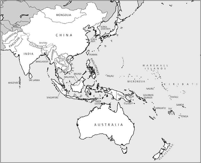 Asia map outline clipart picture transparent Blank Map Southeast Asia And Australia : Blank Outline Map Of Asia ... picture transparent