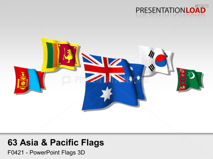 Asia pacific clipart png black and white download PowerPoint Maps & Flags of the Asia-Pacific Region | PresentationLoad png black and white download