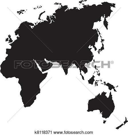 Asia pacific clipart. Clipartfox silhouette of europe
