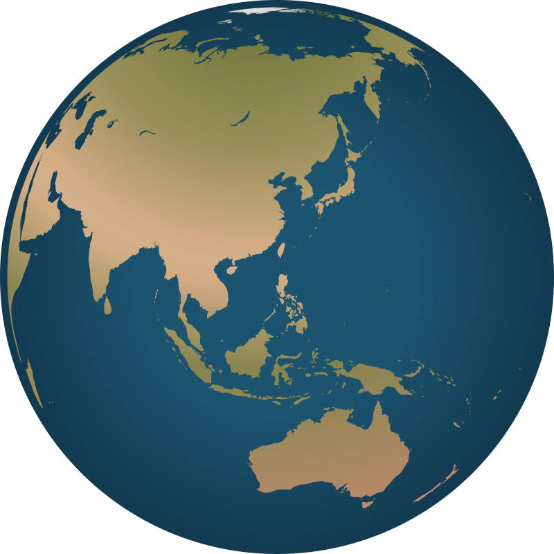 Globe clipartfest free facing. Asia pacific clipart