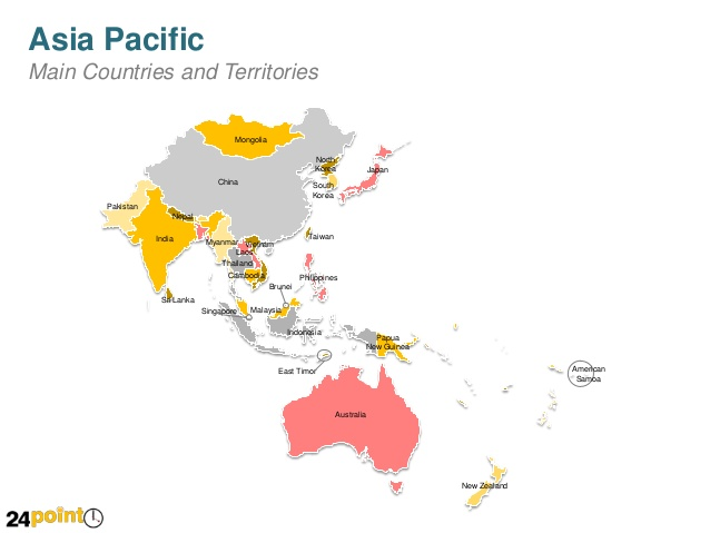 Asia pacific clipart clip royalty free Asia Pacific Country Maps - PowerPoint Slides clip royalty free