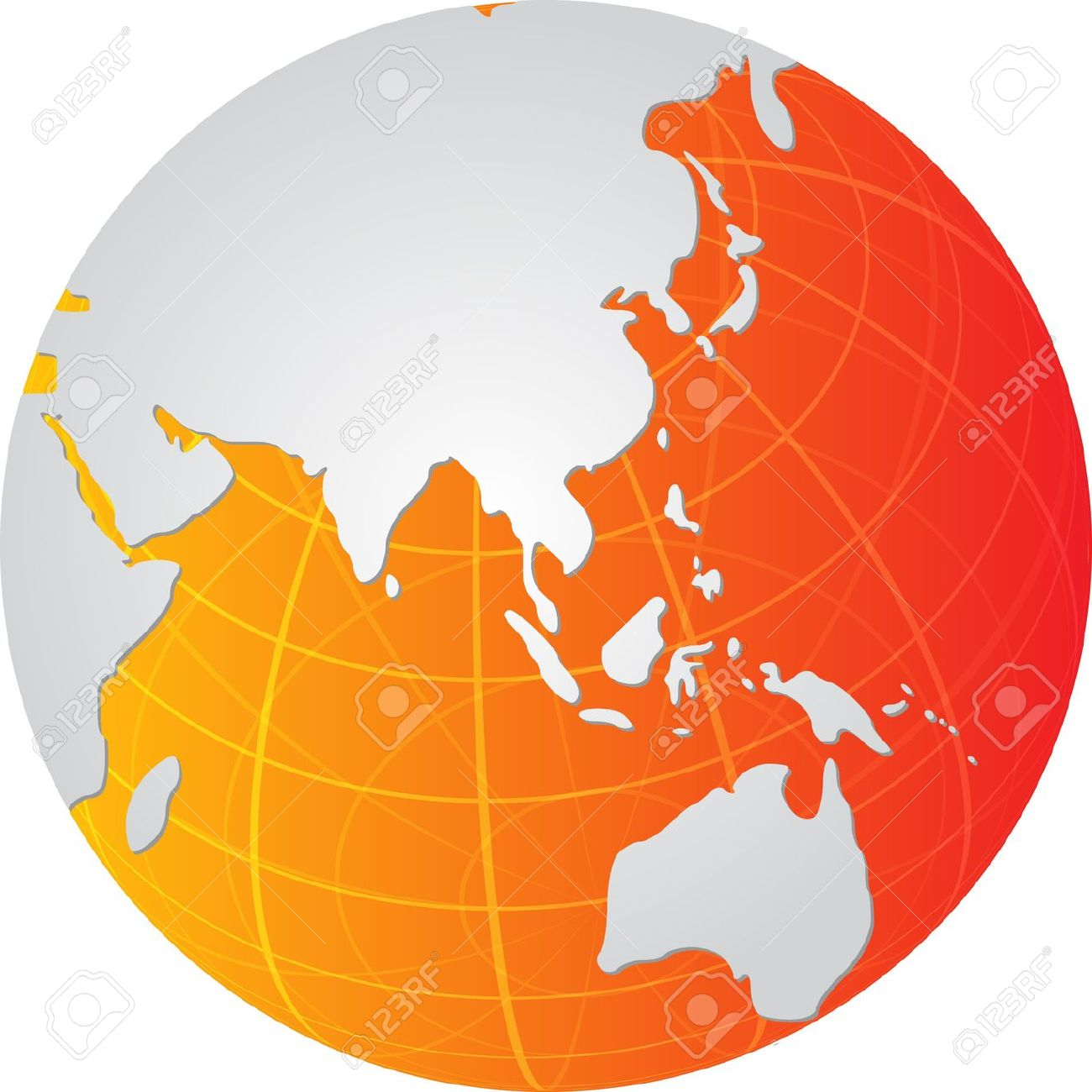 Asia pacific clipart image free Globe Map Illustration Of The Asia Pacific Stock Photo, Picture ... image free