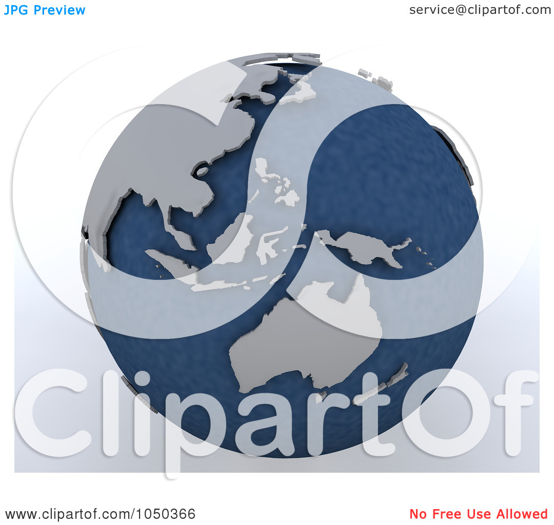 Asia pacific clipart svg transparent Royalty-Free (RF) Clip Art Illustration of a 3d Blue And Gray Asia ... svg transparent