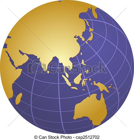Asia pacific clipart clip art royalty free stock Clip Art of Globe Asia - Globe map illustration of the Asia ... clip art royalty free stock
