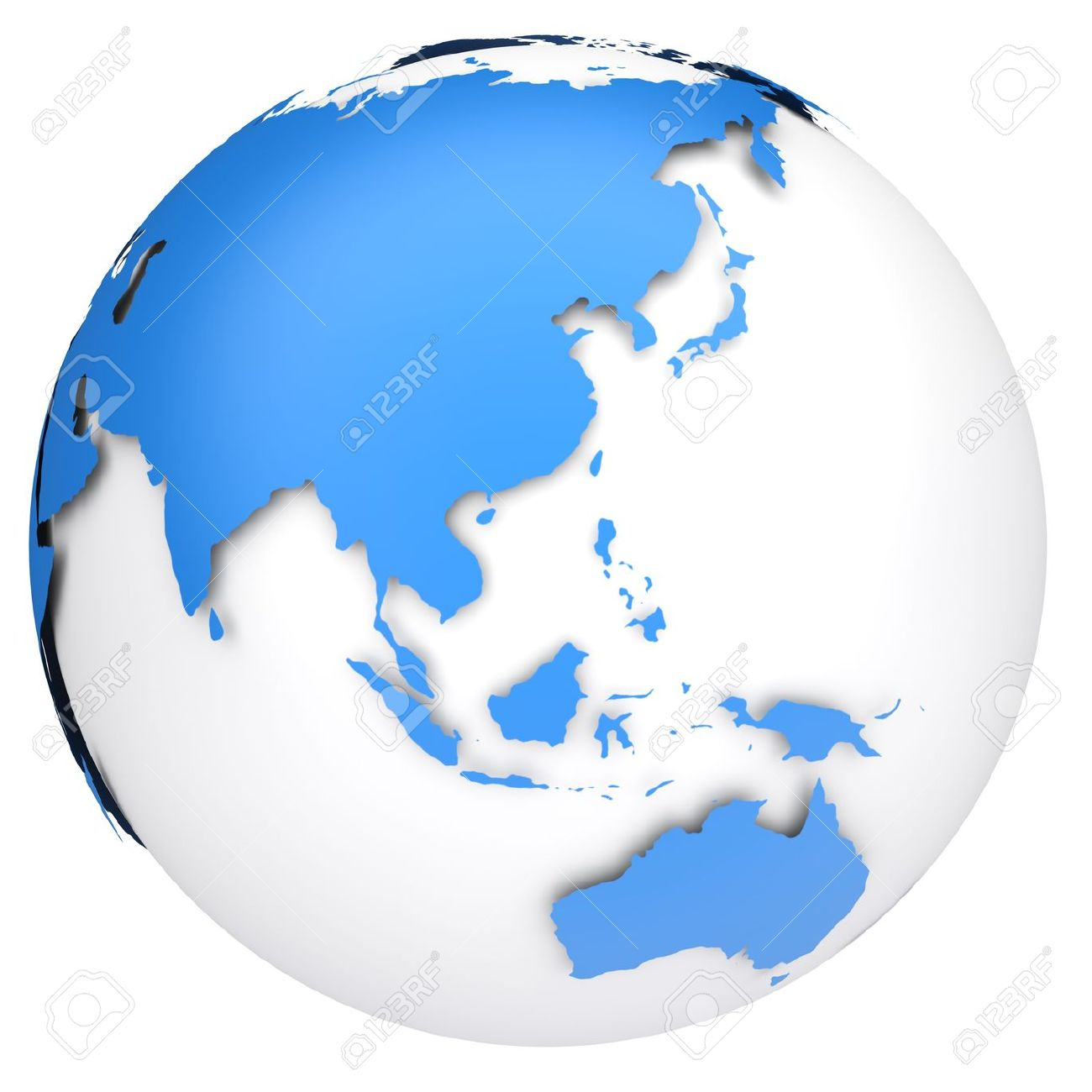 Maps update globe map. Asia pacific clipart