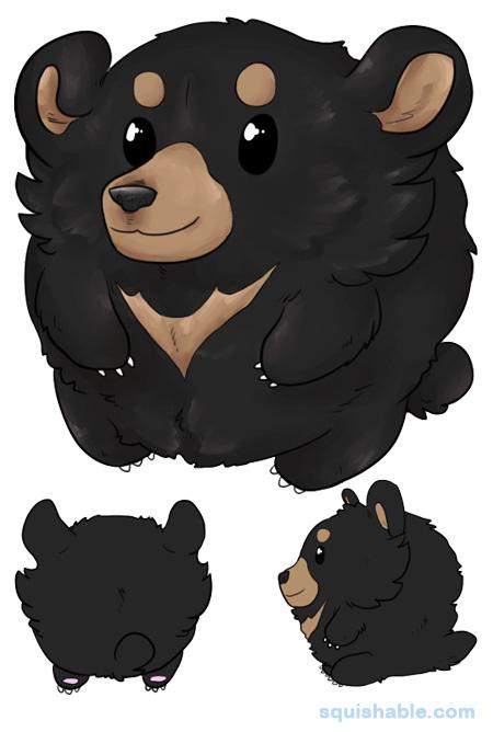 Asian black bear clipart jpg free squishable.com: Squishable Asiatic Black Bear jpg free