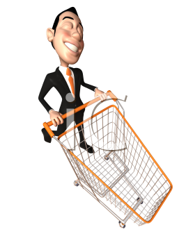 Asian cart clipart image free download Royalty Free 3d Clipart Image of an Asian Businessman Pushing a ... image free download